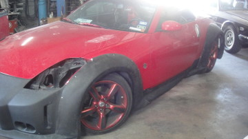 Veilside widebody kit 350z, extreme dimensions, car id, visracing